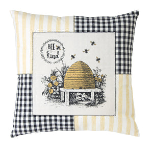 "Bee Pillow (Set of 2) 18"" Polyester"