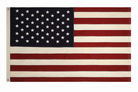 "60""L x 36""H Cotton Fabric Americana Flag w/ Grommets"
