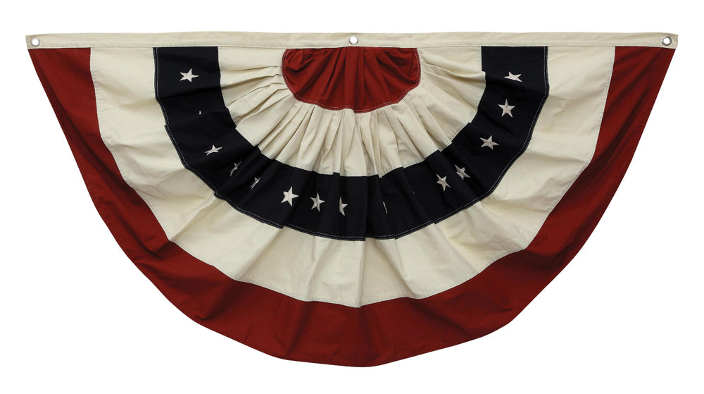 "59""L x 30""H Cotton Fabric Americana Bunting w/ Grommets"