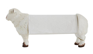 "15""L x 5""W x 9""H Resin Sheep Paper Towel Holder"