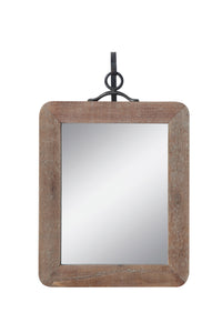 "11""W x 16""H Wood Framed Wall Mirror w/ Metal Bracket, Set of 2"
