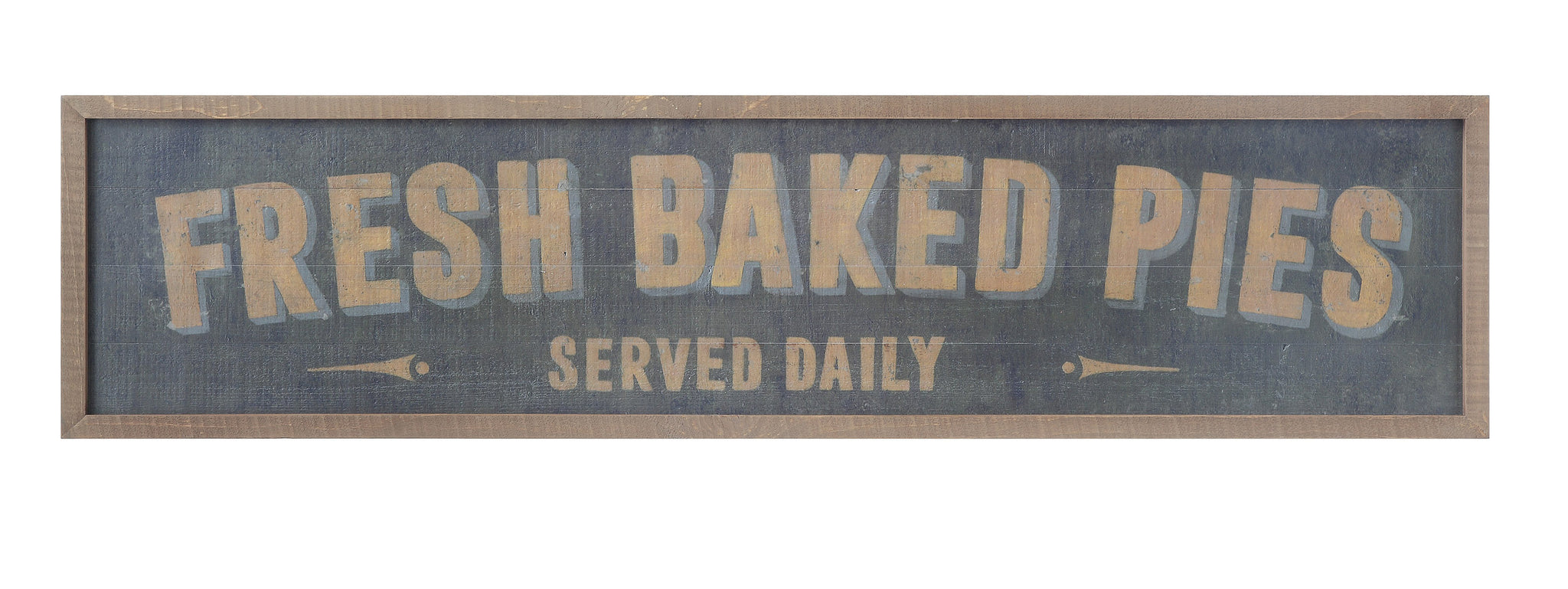 "50""W x 12""H Wood Framed Wall Décor ""Fresh Baked Pies Served Daily"""