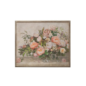 "37-1/4""W x 31-1/2""H Wood Framed Wall Décor w/ Flower Bouquet ©"