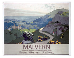 Malvern Worcestershire railway posters www.loveyourlocation.co.uk