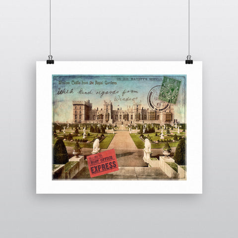 Windsor Castle 90x120cm Fine Art Print