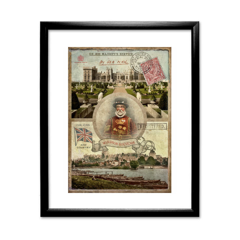 Windsor Castle 11x14 Framed Print (Black)