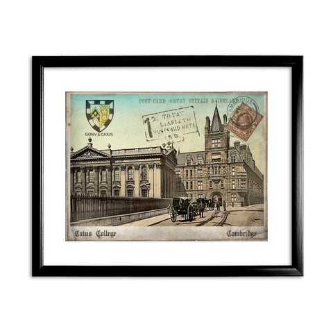 Caius College, Cambridge 11x14 Framed Print (Black)