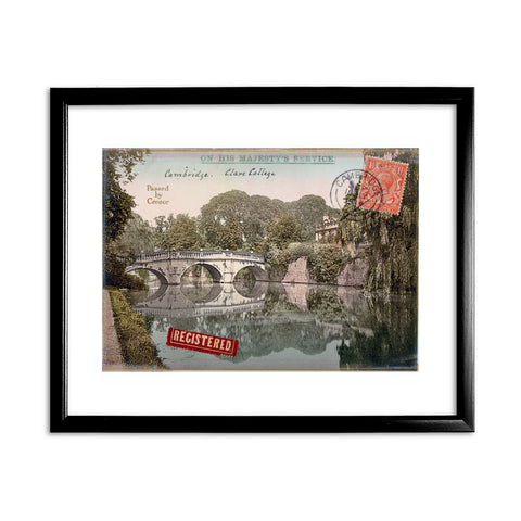 Cambridge 11x14 Framed Print (Black)