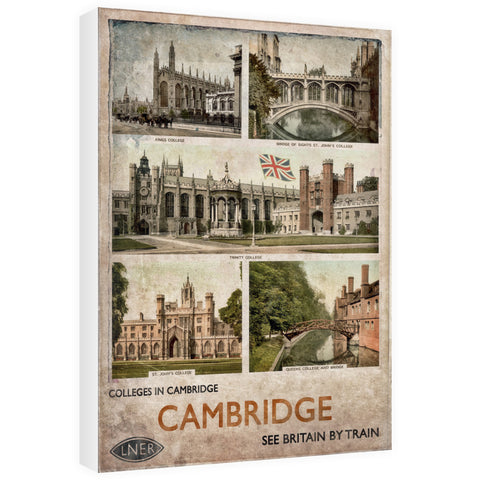 Cambridge Colleges 60cm x 80cm Canvas