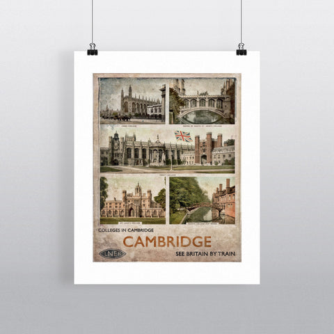 Cambridge Colleges 90x120cm Fine Art Print