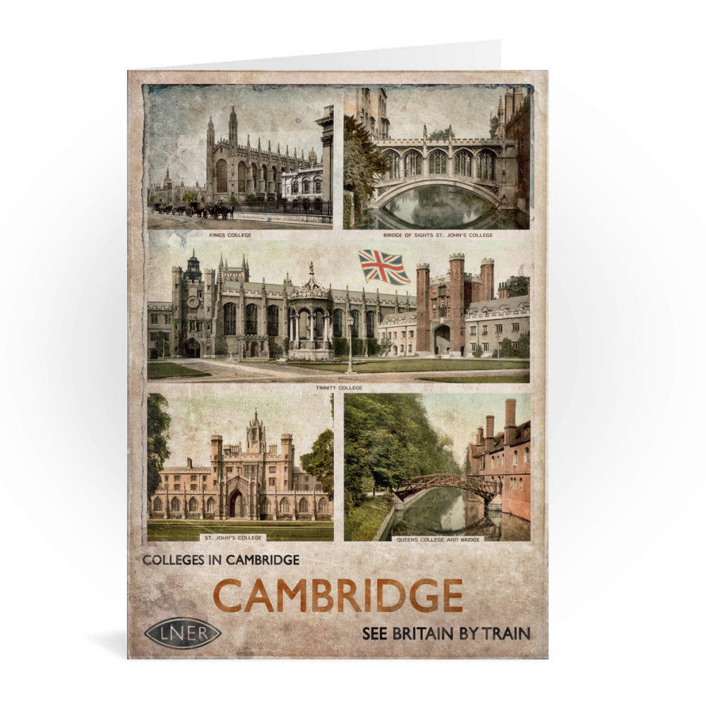 Cambridge Colleges Greeting Card 7x5