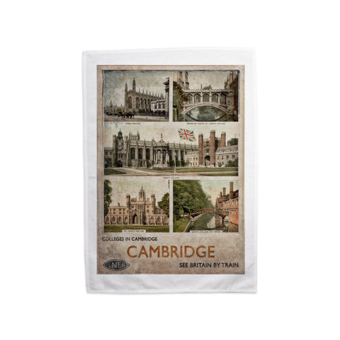 Cambridge Colleges Tea Towel