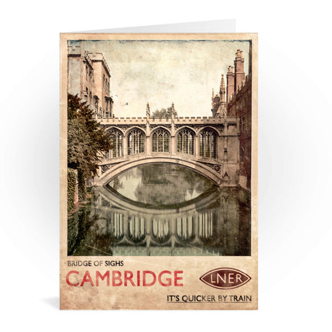 Bridge of Sighs, Cambridge Greeting Card 7x5
