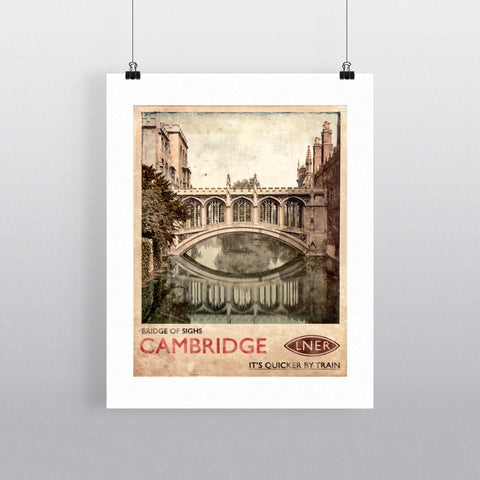 Bridge of Sighs, Cambridge 90x120cm Fine Art Print