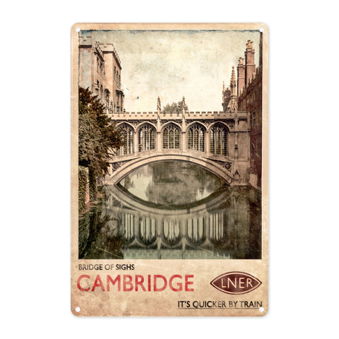 Bridge of Sighs, Cambridge Metal Sign