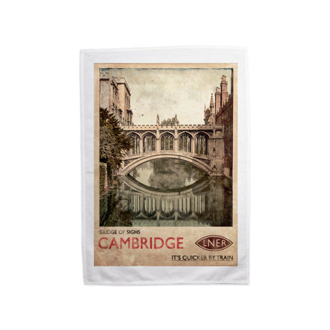 Bridge of Sighs, Cambridge Tea Towel