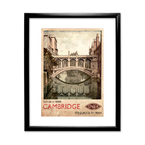 Bridge of Sighs, Cambridge 11x14 Framed Print (Black)