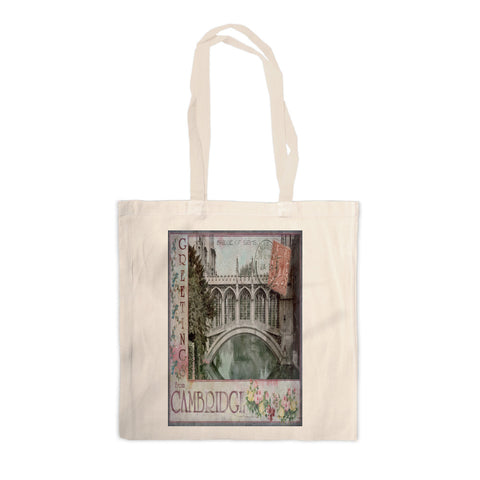 Bridge of Sighs, Cambridge Canvas Tote Bag