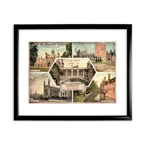 Cambridge Colleges 11x14 Framed Print (Black)