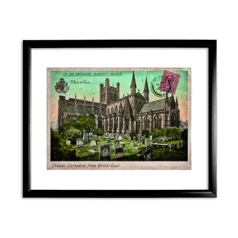 Chester Cathedral 11x14 Framed Print (Black)