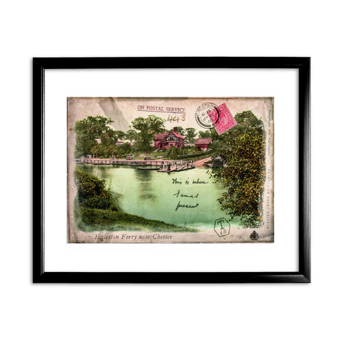 Eccleston Ferry near Chester 11x14 Framed Print (Black)