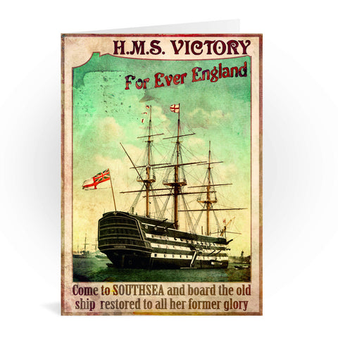 HMS Victory, Southsea Greeting Card 7x5