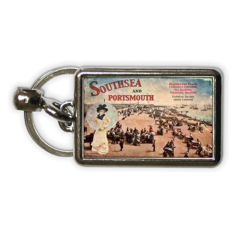 Southsea and Portsmouth Metal Keyring