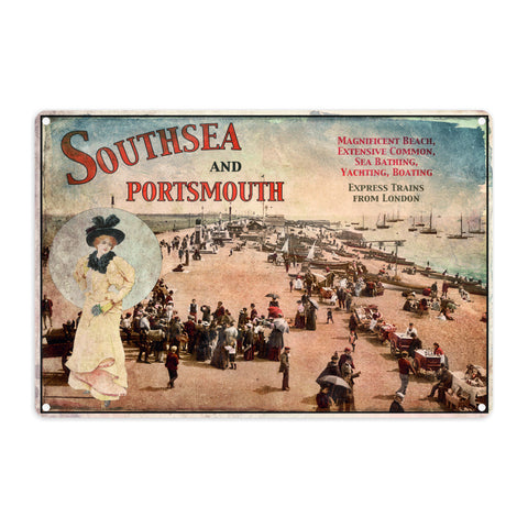 Southsea and Portsmouth Metal Sign