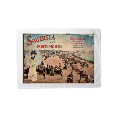 Southsea and Portsmouth Tea Towel