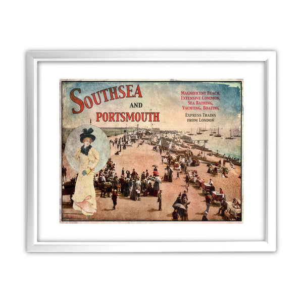 Southsea and Portsmouth 11x14 Framed Print (White)