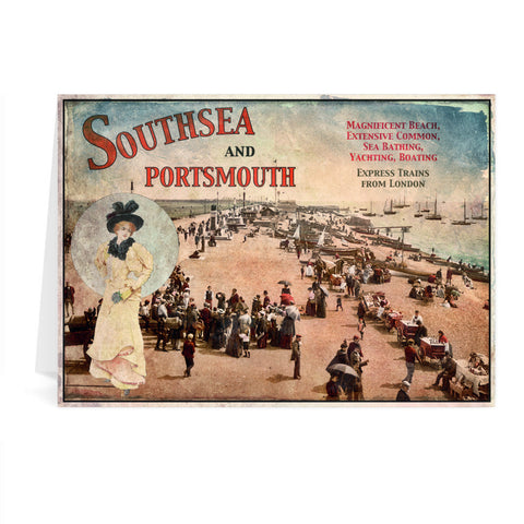 Southsea and Portsmouth Greeting Card 7x5