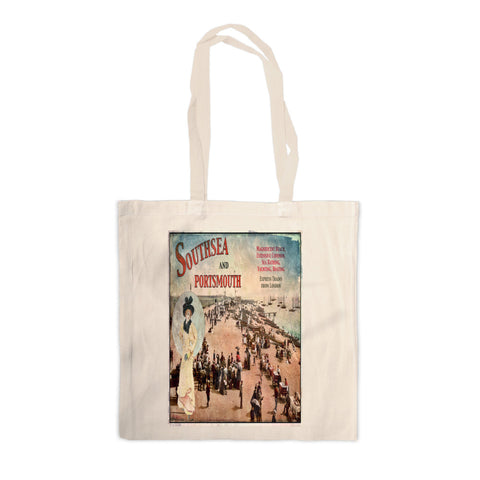 Southsea and Portsmouth Canvas Tote Bag