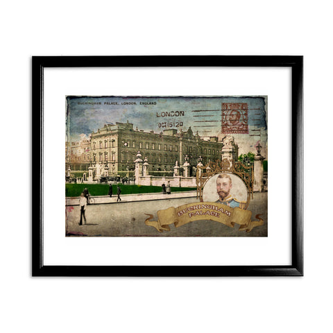 Buckingham Palace, London 11x14 Framed Print (Black)