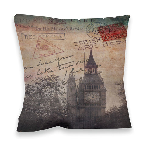 Big Ben, London Fibre Filled Cushion