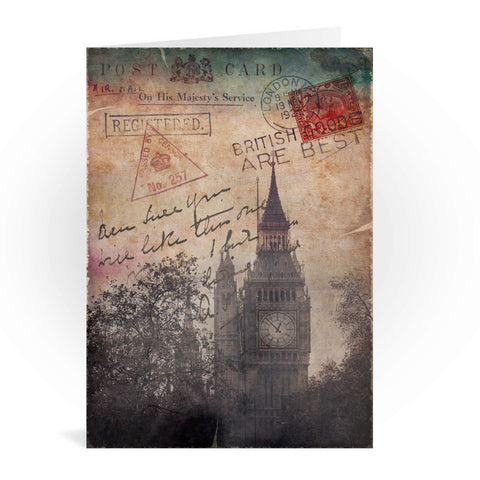 Big Ben, London Greeting Card 7x5