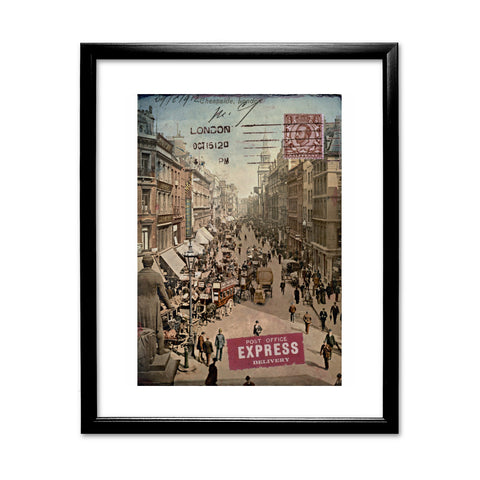 Cheapside, London 11x14 Framed Print (Black)