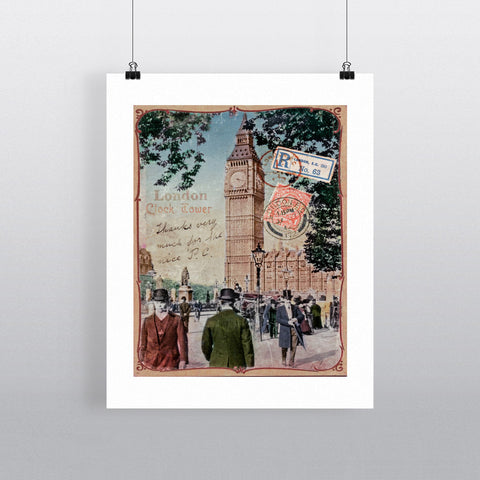 Big Ben, London 90x120cm Fine Art Print
