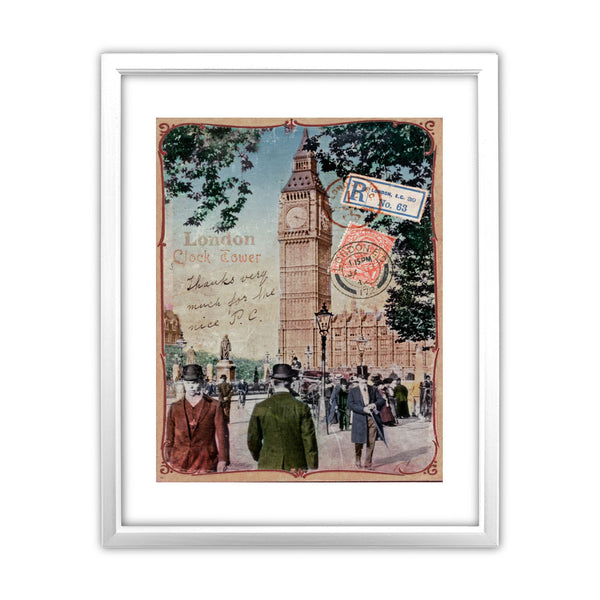 Big Ben, London 11x14 Framed Print (White)