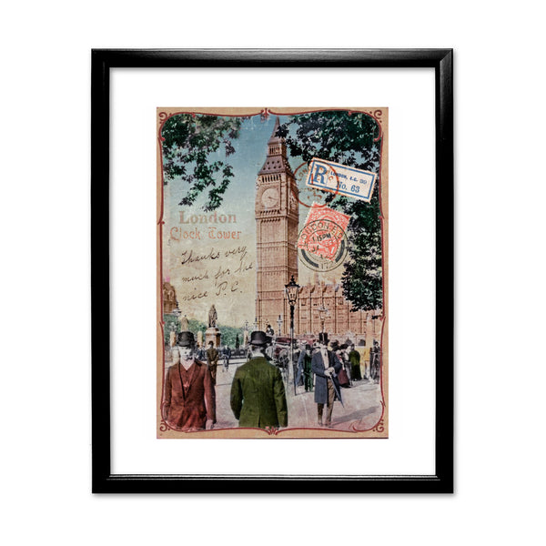 Big Ben, London 11x14 Framed Print (Black)