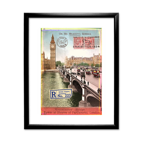Westminster Bridge, London 11x14 Framed Print (Black)
