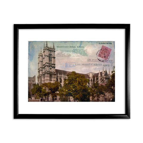 Westminster Abbey, London 11x14 Framed Print (Black)