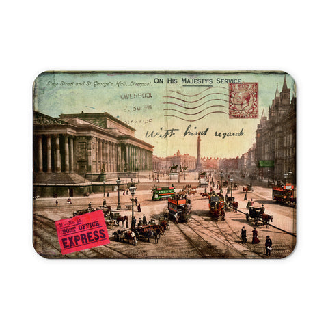 Lime Street and St Georges Hall, Liverpool Mouse Mat