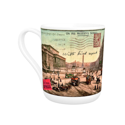 Lime Street and St Georges Hall, Liverpool Bone China Mug