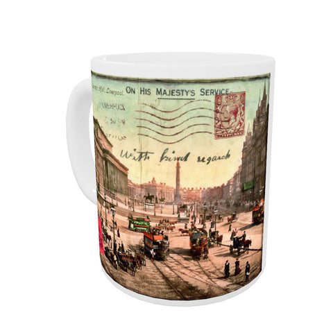 Lime Street and St Georges Hall, Liverpool Coloured Insert Mug