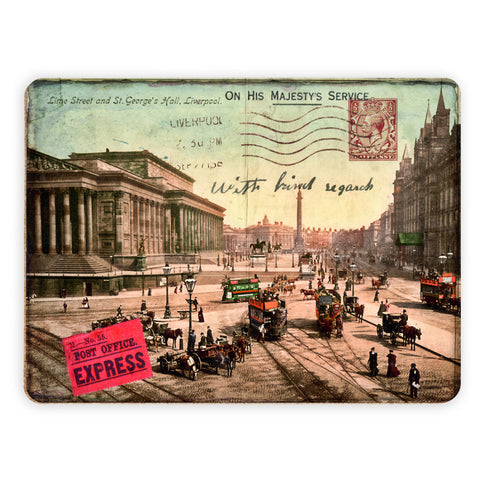 Lime Street and St Georges Hall, Liverpool Placemat