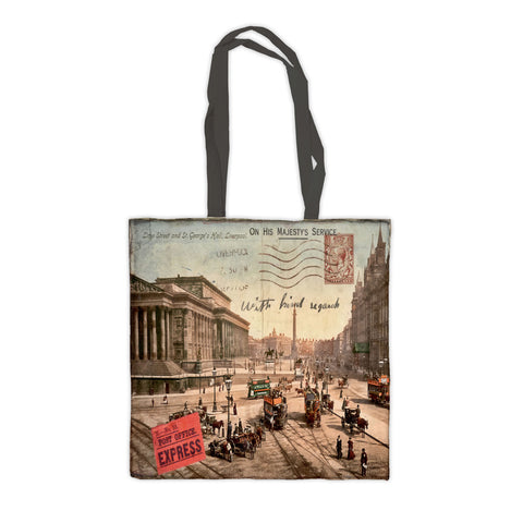 Lime Street and St Georges Hall, Liverpool Premium Tote Bag