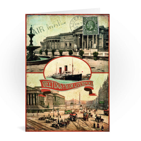 Liverpool Greeting Card 7x5