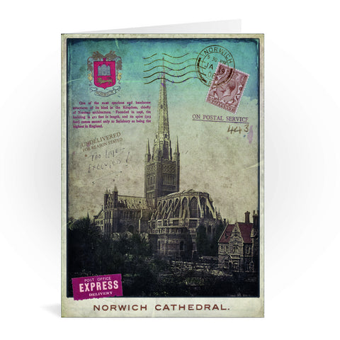 Norwich Cathedral Greeting Card 7x5