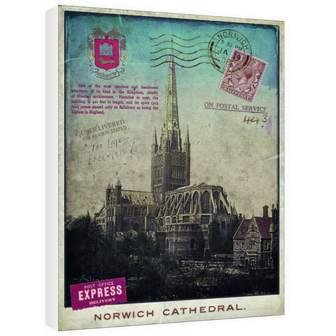 Norwich Cathedral 60cm x 80cm Canvas