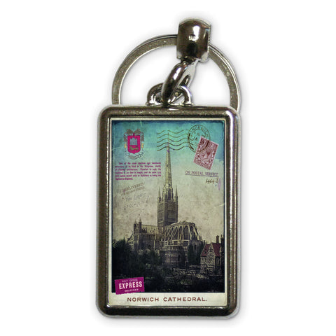 Norwich Cathedral Metal Keyring